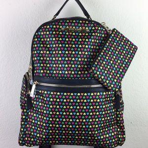 Betsy Johnson Rainbow Hearts Big Backpack